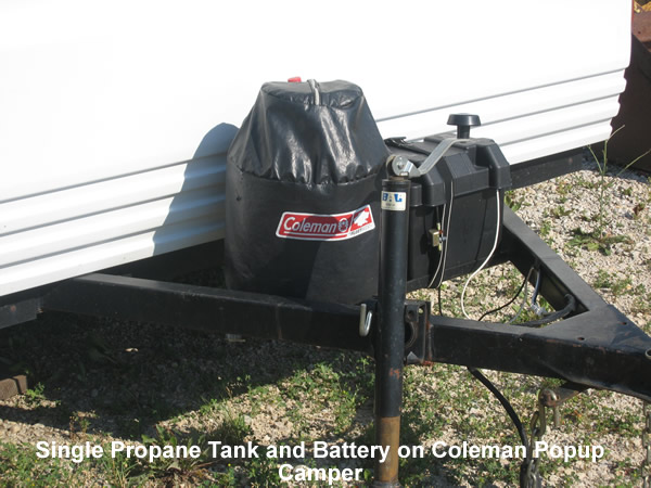propane tank and battery