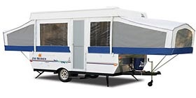 fleetwood folding camper open