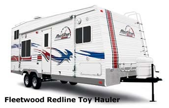 toy hauler travel trailer