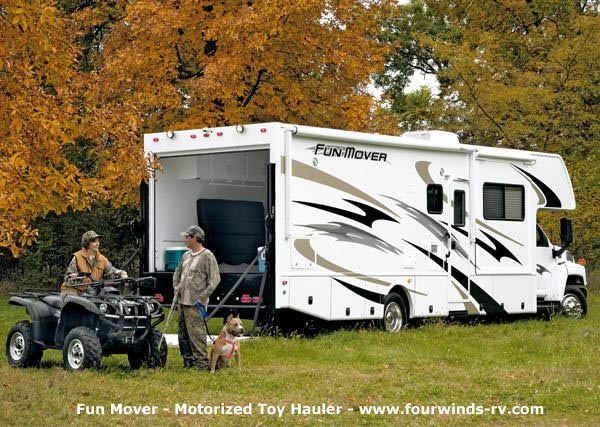 Toy hauler campers for Motor home toy hauler