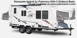 stampede hybrid travel trailer